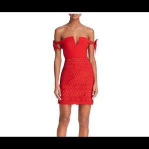 Red stylestalker off shoulder dress bloomingdales